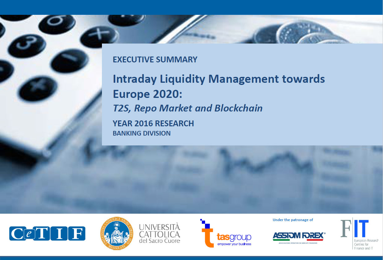 TAS Group CeTIF joint research intraday liquidity T2S