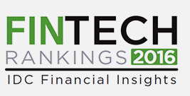 IDC Financial Insight FinTech Rankings award